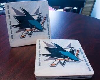 San Jose Sharks Coasters - Set of 4