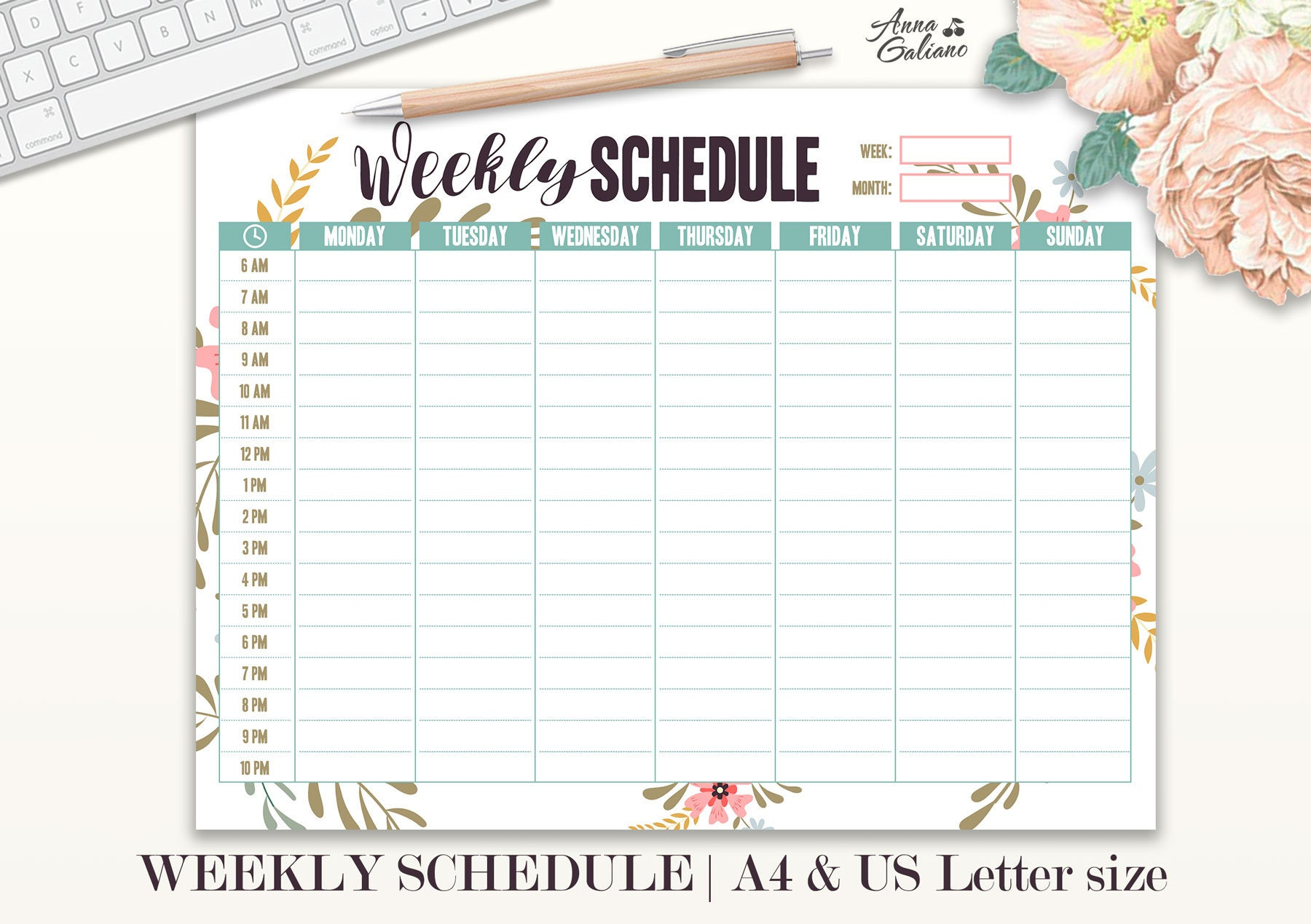 template weekly schedule template with hours hourly chart hour