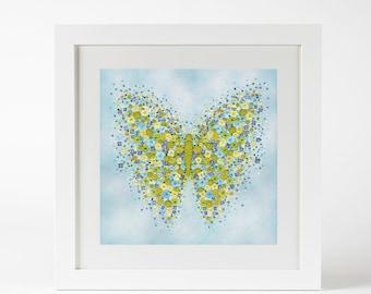 Flutterly Blue - Framed Prints