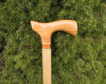 Fritz Handled Cane w/ Flowering Plum Handle, walking stick, cane