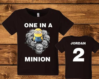 Sale! Minion Birthday Shirt