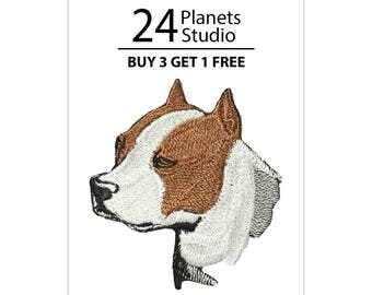 Pitbull Terrier Iron on Patch by 24PlanetsStudio Cute Applique Cute Patch dog patch dogs