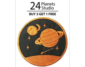 Saturn#2 Planet Iron on Patch by 24PlanetsStudio