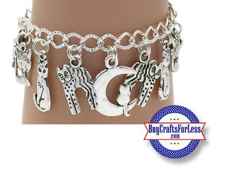 KITTY Charm bracelet, Puuurrrrfectly CUTE!  **FREE SHiPPiNG**