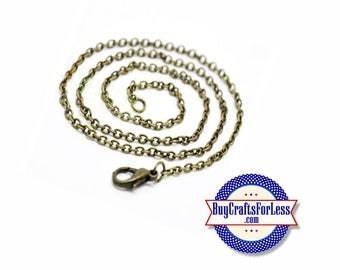 """CHAIN, 18"""", Bronze Finish, Link Style +FREE SHIPPING & Discounts*"""