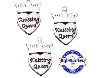 KNITTING Queen Charm, 6, 12, 24 pcs  +FREE SHiPPiNG & Discounts*