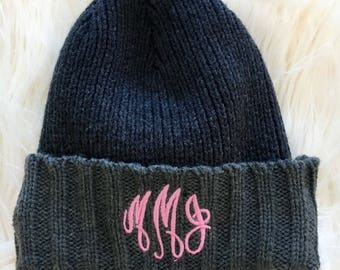 Monogram Knit Hat