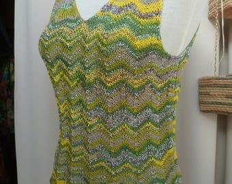 handmade pure cotton knit tank