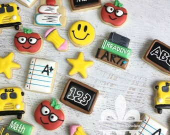 2 Dozen Mini Back To School Teacher Appreciation Cookies