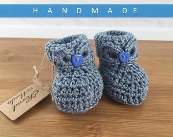 Baby Girl Booties/ Crochet Booties/ Baby Girl Present/ Newborn Baby Booties