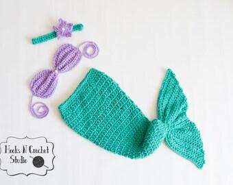 Newborn mermaid, newborn crochet outfit, newborn mermaid outfit, crochet mermaid outfit, newborn girl outfit, crochet outfit, mermaid outfit
