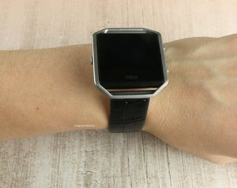 Fitbit Blaze leather strap band and frame tech wearable band