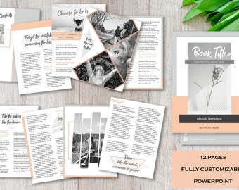 Ebook Template | 12 Pre-Designed Pages | Fully Customizable | PowerPoint