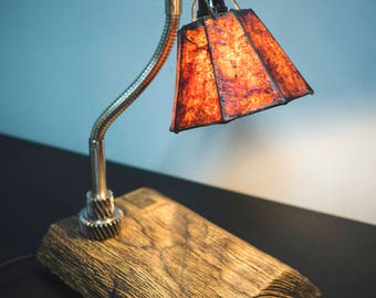 Handmade table lamp with shade
