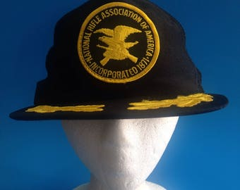 Vintage National Rifle Association Of A America Trucker SnapBack Hat Adjustable 1980s