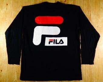 20% OFF Vintage FILA Baseketball Big Logo Sweatshirt Pullover