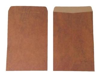 "10PCS Old Style Retro Vintage Paper Envelopes 4X8"" Brown Kraft C6 Envelopes - Gift, Business, Favors, Baking Packaging"
