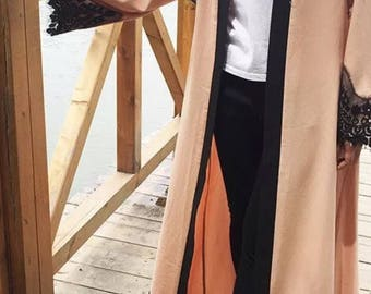 latest Dubai open front abaya kimono abaya