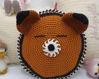 Crochet FOX pillow baby room decoration