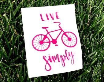Bicycle Vinyl Decal Etsy - Custom vinyl decals bicycle
