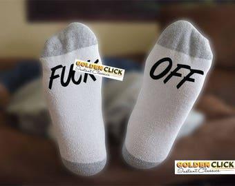 F Off Socks, Funny Socks, Gift For Him, Gift For Her