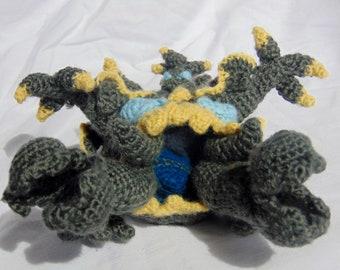 Guzzlord Amigurumi Pattern (Pokemon Downloadable PDF Crochet Pattern)