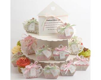 Tea Party Favour Box Set Wedding Theme Pot