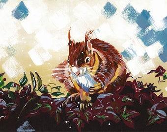 Squirrel (A3 print)