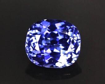 Perfect 4.37 ctw. blue sapphire loose gemstone.