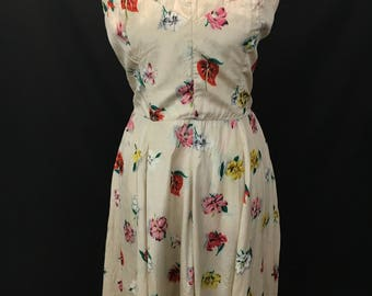 1950's Silk Royal Hawaiian Dress