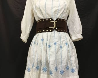Vintage Embroidered 20's Style Shift Dress