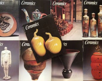 Ceramics Monthly Magazines - 9 Issues from 1999