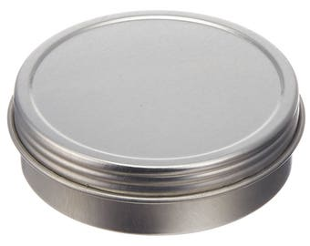 Screw Top Round Steel Tins, 2-Ounce, 24-Pack