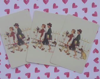 Vintage Norman Rockwell playing cards