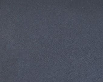 Coupon of leather Navy Blue genuine calfskin