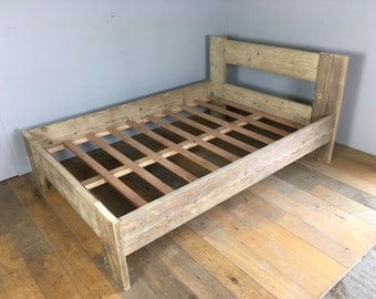 Reclaimed Scaffolding Board Double Bed