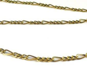 Chain link figaro 1 meter - bronze
