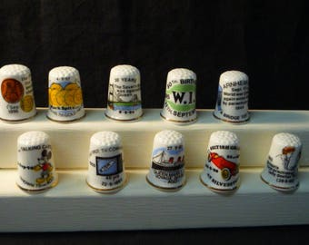 Thimbles Historic Days in September Set of 10 Commemorative Birchcroft Fine Bone China Thimbles