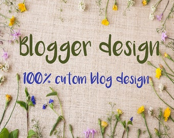 Custom Blogger Template, Custom Blog, Hand Illustrated blog, Blog Re-brand, Custom Blogger, Blogger