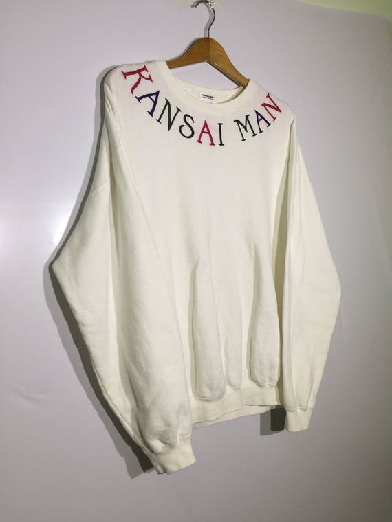 Sale!! Sale!! Vintage Kansai Man Sweatshirt Spell Out Colour Yutaka Nishimura Japanes Brand Rare K8n1h17