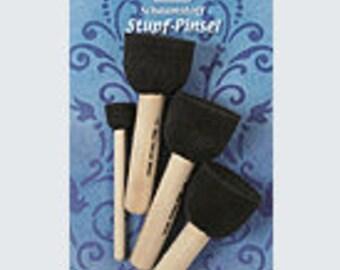 STUPF brushes, handicraft accessories, tools, Viva decor, foam brushes, handicraft utensils, stencil technology, polka Dots, Tupfpinsel, stenciling, motif