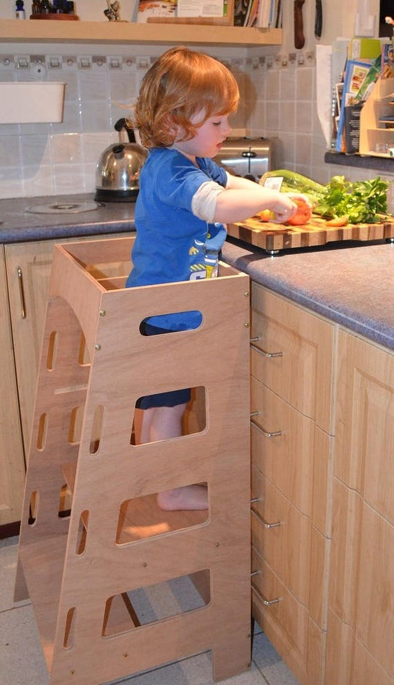 Kitchen Helper Tower - Montessori kitchen stool step stool learning tower cooking toddler stool kitchen decor toddler tower wooden step & Kitchen Helper Tower Montessori kitchen stool step stool islam-shia.org