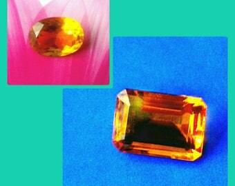 Natural Citrine Gemstones  Loose Stone - 2 Sizes