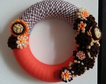 Autumn wreath for door