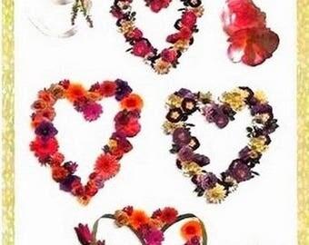 Colorbok 30.5 cm x 13 cm creative cardmaking scrapbooking hearts stickers