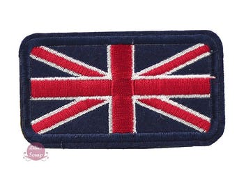 Union Jack patch Thermo 6 cm England flag embroidered badge