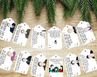 LOVE ACTUALLY Christmas Tags (set of 12)