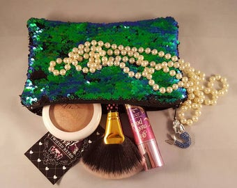 Mermaid sequin zippered purse