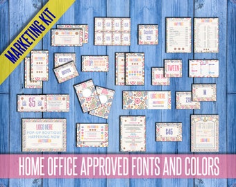 SALE! Paisley Marketing Kit, 18 Items! Home Office Approved fonts and colors: Punch Cards, 2 Business cards; Huge Bundle; PERSONALIZED!