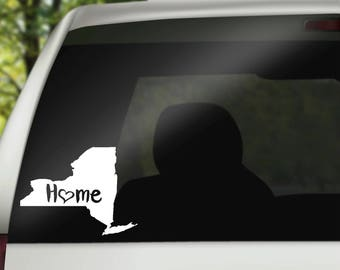 New York Decal, State Decal, New York Car Decal, New York Home Decal, State Car Decal, Laptop Decal, Tumbler Decal, Water Bottle Decal